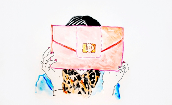 Clutch & Nails illustration via Elle Liberachi blog
